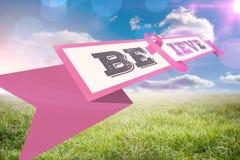 Złożony wizerunek nowotwór piersi świadomości wiadomość Fotografia Royalty Free