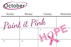 Złożony wizerunek nowotwór piersi świadomości wiadomość nadzieja Zdjęcie Royalty Free