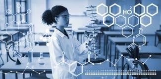 Złożony wizerunek obraz cyfrowy chemiczna struktura Zdjęcia Stock