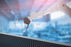 Złożony wizerunek obraz cyfrowy kruszcowy pazur mechaniczna ręka 3d Fotografia Royalty Free