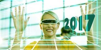 Złożony wizerunek obraz cyfrowy nowy rok 2017 Obraz Stock