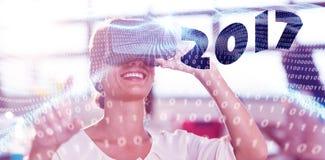 Złożony wizerunek obraz cyfrowy nowy rok 2017 Zdjęcie Royalty Free