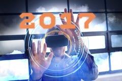 Złożony wizerunek obraz cyfrowy nowy rok 2017 Zdjęcie Stock