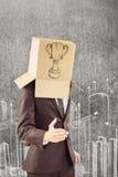 Złożony wizerunek oferuje jego rękę anonimowy biznesmen obraz stock