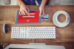 Złożony wizerunek online bankowość obraz stock