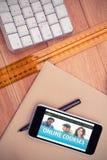 Złożony wizerunek online kursu interfejs Zdjęcie Royalty Free
