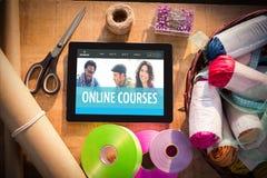 Złożony wizerunek online kursu interfejs Fotografia Stock