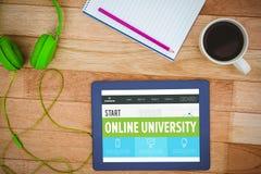 Złożony wizerunek online uniwersytecki interfejs obrazy stock