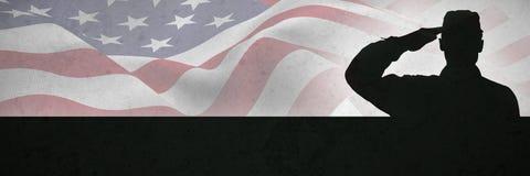 Złożony wizerunek ostrość na usa flaga obraz royalty free