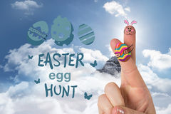 Złożony wizerunek palce jako Easter królik Obrazy Stock