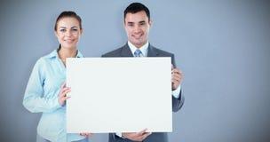 Złożony wizerunek partnery biznesowi przedstawia znaka obrazy royalty free