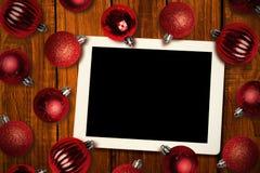 Złożony wizerunek pastylka komputer osobisty Zdjęcia Royalty Free