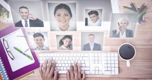 Złożony wizerunek portret ludzie biznesu Obraz Stock