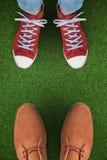 Złożony wizerunek przypadkowi buty Zdjęcie Royalty Free