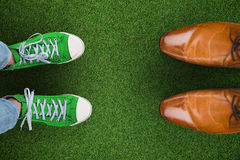 Złożony wizerunek przypadkowi buty Obrazy Stock
