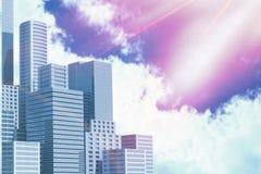 Złożony wizerunek rozmyty animowany raca 3d royalty ilustracja