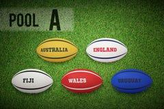 Złożony wizerunek rugby pucharu świata basen a Obrazy Stock