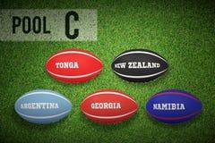 Złożony wizerunek rugby pucharu świata basen c Obrazy Royalty Free