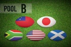 Złożony wizerunek rugby pucharu świata basenu b Obrazy Stock