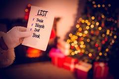 Złożony wizerunek Santas lista Zdjęcie Royalty Free