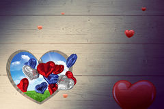 Złożony wizerunek serca Fotografia Stock