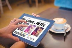 Złożony wizerunek smartphone app menu Zdjęcia Royalty Free