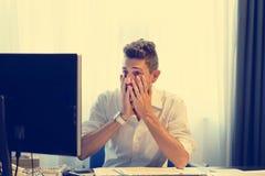 Złożony wizerunek stresujący się out przy pracą biznesmen obrazy stock