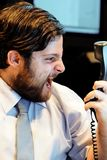 Złożony wizerunek stresujący się out przy pracą biznesmen obraz stock