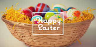 Złożony wizerunek szczęśliwy Easter Fotografia Royalty Free