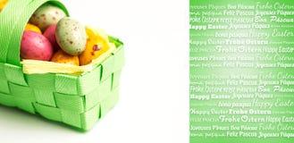 Złożony wizerunek szczęśliwy Easter w różnych językach Obraz Stock