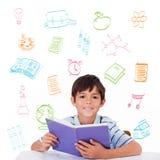Złożony wizerunek szkolni doodles Fotografia Royalty Free