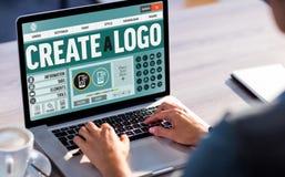 Złożony wizerunek tekst i ikony na stronie internetowej Fotografia Stock