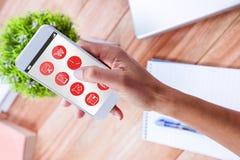 Złożony wizerunek telefoniczne apps ikony Zdjęcie Royalty Free