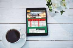 Złożony wizerunek uprawiać hazard app ekran obrazy royalty free