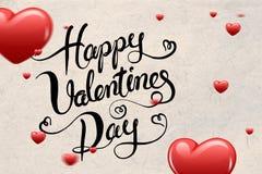 Złożony wizerunek valentines wiadomość Obraz Royalty Free
