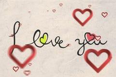 Złożony wizerunek valentines wiadomość Zdjęcia Stock