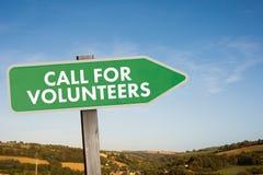 Złożony wizerunek wezwanie dla wolontariuszów royalty ilustracja