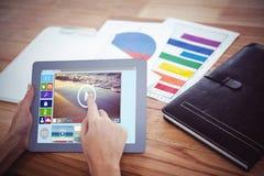Złożony wizerunek złożony wizerunek różnorodne wideo i komputerowe ikony Fotografia Royalty Free