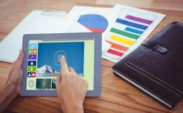 Złożony wizerunek złożony wizerunek różnorodne wideo i komputerowe ikony Zdjęcie Royalty Free