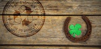 Złożony wizerunek złożony wizerunek st Patrick dzień z przetwarzać symbol Obrazy Stock
