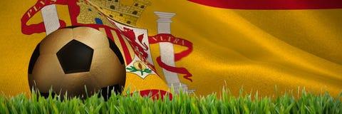 Złożony wizerunek złocisty futbol ilustracja wektor