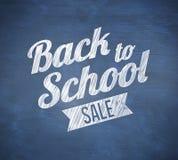 Złożony wizerunek z powrotem szkoły sprzedaży wiadomość ilustracja wektor