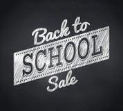 Złożony wizerunek z powrotem szkoły sprzedaży wiadomość royalty ilustracja