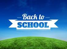 Złożony wizerunek z powrotem szkoły wiadomość Zdjęcie Stock