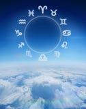 Złożony wizerunek zodiak mapa Fotografia Royalty Free