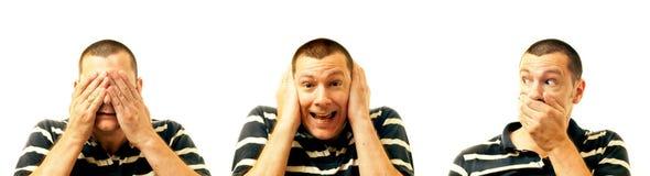 zło słucha małpy żadne widzieć target1799_0_ trzy mądrego Obraz Royalty Free