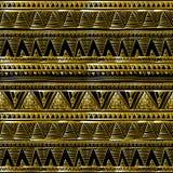 Złociści błyskotliwi zygzag fala backgrouns czarny wektorowy Etniczny bezszwowy royalty ilustracja
