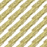 Złociści błyskotliwości przekątny lampasy na białym tle, bezszwowy niekończący się wzór ilustracja wektor