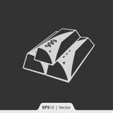 Złociści bary ikony dla sieci i wiszącej ozdoby Obrazy Stock
