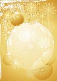 złociści baubles boże narodzenia Zdjęcia Royalty Free